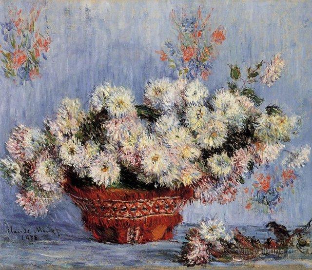 цветы Хризантемы :: Клод Моне, описание картины - Моне Клод (Claude Monet) фото