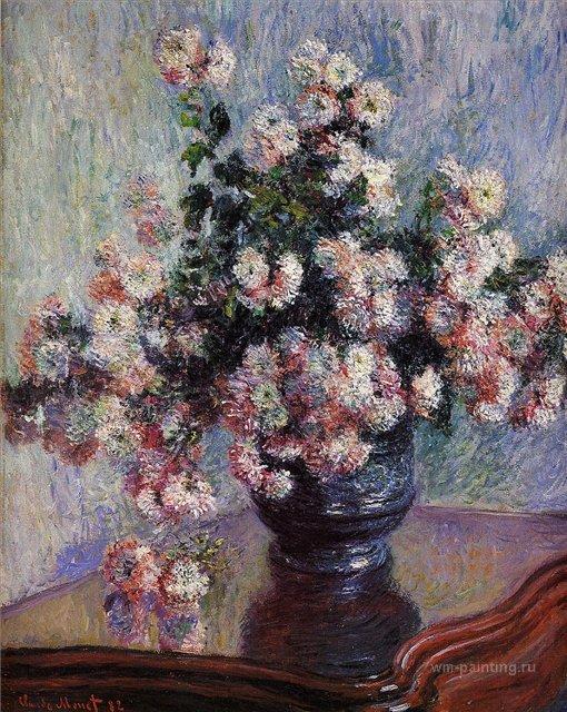цветы Хризантемы :: Клод Моне, описание картины - Claude Monet фото
