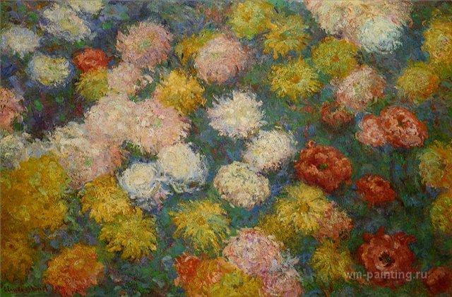 цветы Хризантемы:: Клод Моне, описание картины - Claude Monet фото