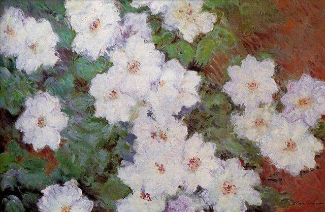 цветы < Ломоносы >:: Клод Моне, описание картины - Моне Клод (Claude Monet) фото