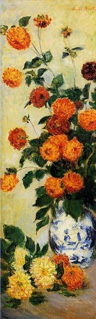 цветы < Георгины >:: Клод Моне, описание картины - Моне Клод (Claude Monet) фото