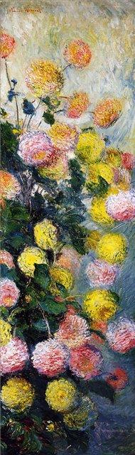 цветы < Георгины >:: Клод Моне, описание картины - Claude Monet фото