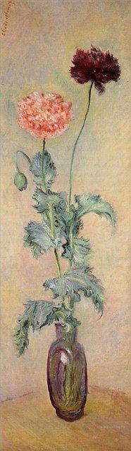 цветы < Красный и розовый маки >:: Клод Моне, описание картины - Claude Monet фото
