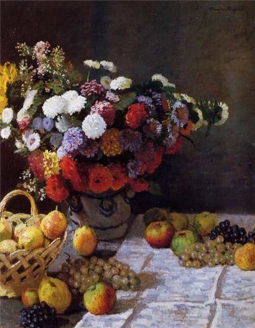 цветы Цветы и фрукты :: Клод Моне, описание картины - Claude Monet фото