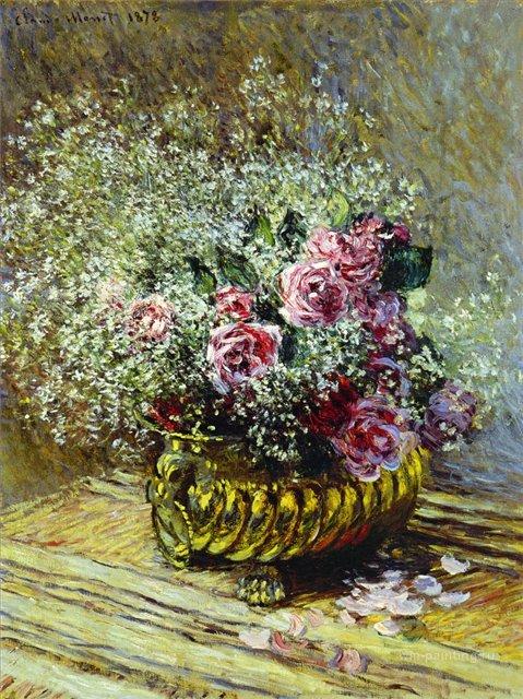 цветы < Цветы в вазе >:: Клод Моне, описание картины - Моне Клод (Claude Monet) фото