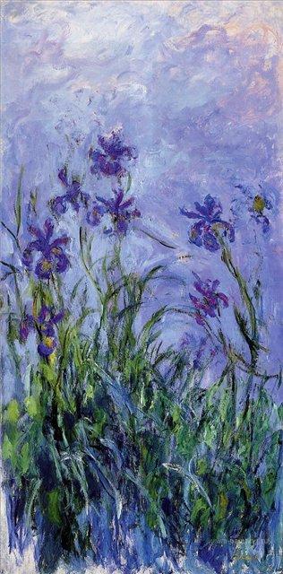 цветы Сиреневые ирисы :: Клод Моне, описание картины - Claude Monet фото