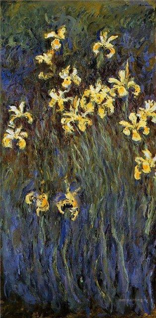 цветы < Жёлтые ирисы >:: Клод Моне, описание картины - Claude Monet фото