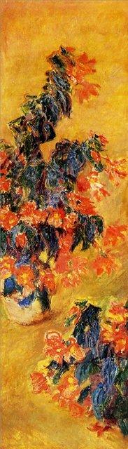 цветы Красные азалии в горшке :: Клод Моне, описание картины - Claude Monet фото