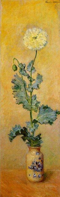 цветы < Белый мак >:: Клод Моне, описание картины - Claude Monet фото