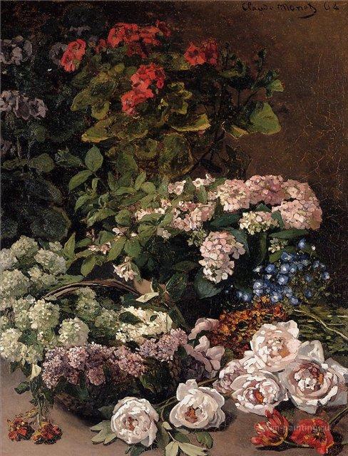 цветы < Весенние цветы >:: Клод Моне, описание картины - Claude Monet фото