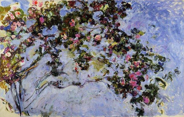 цветы < Куст роз >:: Клод Моне, описание картины - Моне Клод (Claude Monet) фото