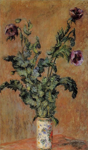 цветы < Ваза с маками >:: Клод Моне, описание картины - Claude Monet фото