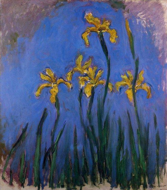 цветы Жёлтые ирисы :: Клод Моне, описание картины - Моне Клод (Claude Monet) фото