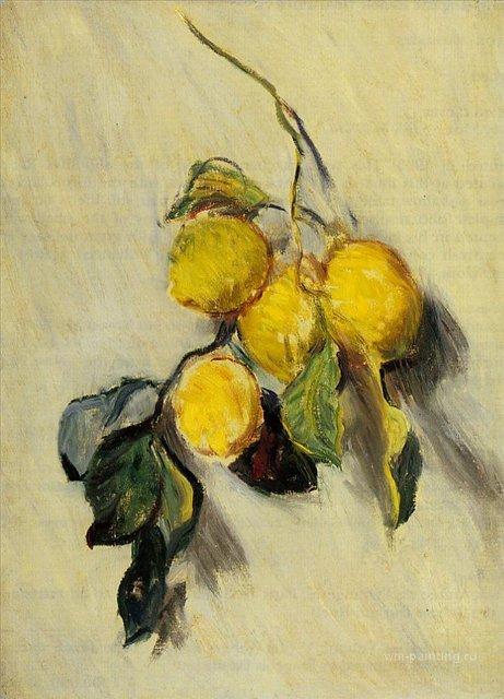 натюрморт Ветка лимонов:: Клод Моне, описание картины - Claude Monet фото