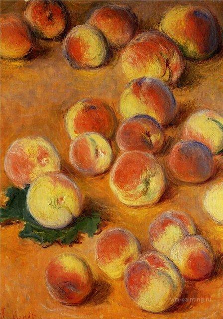 натюрморт < Персики >:: Клод Моне, описание картины - Claude Monet фото