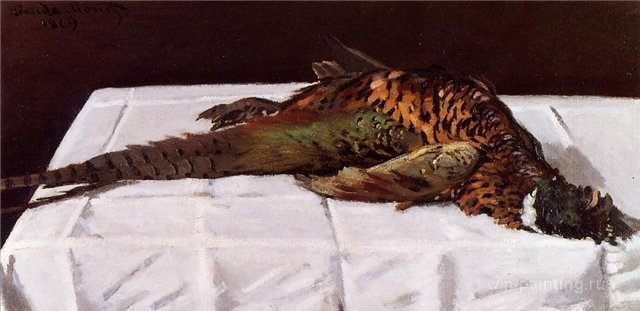 натюрморт < Фазан >:: Клод Моне, описание картины - Моне Клод (Claude Monet) фото