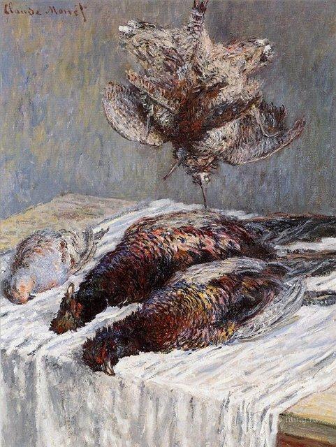 натюрморт < Фазаны, вальдшнепы и куропатки >:: Клод Моне, описание картины - Моне Клод (Claude Monet) фото