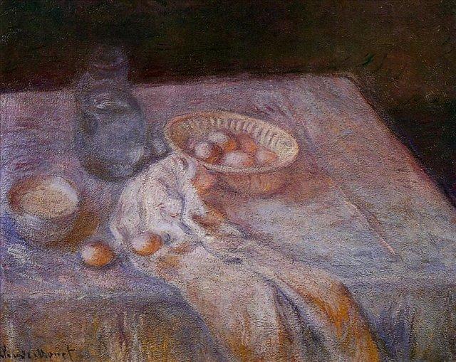 натюрморт Натюрморт с яйцами :: Клод Моне, описание картины - Claude Monet фото