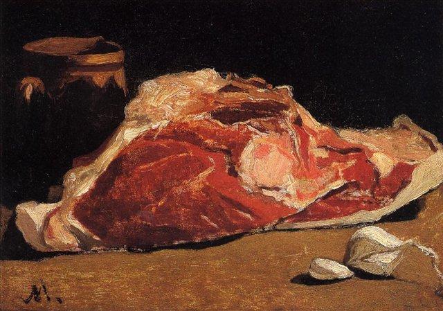 натюрморт < Натюрморт с мясом >:: Клод Моне, описание картины - Моне Клод (Claude Monet) фото