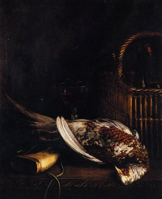 Натюрморт с фазаном :: Клод Моне, описание картины - Claude Monet фото