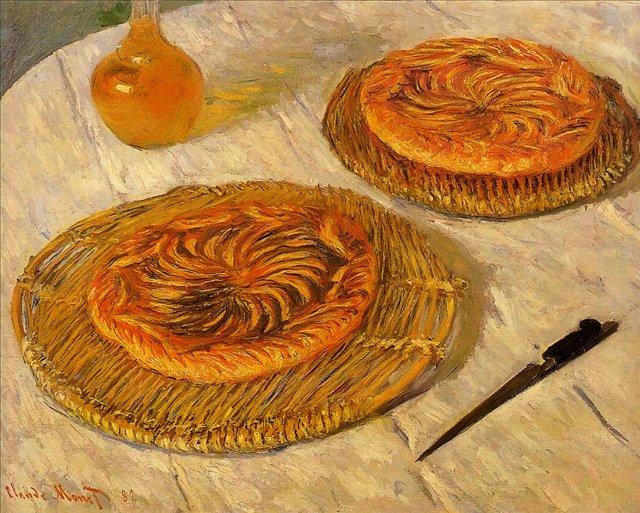 натюрморт Галеты :: Клод Моне, описание картины - Claude Monet фото