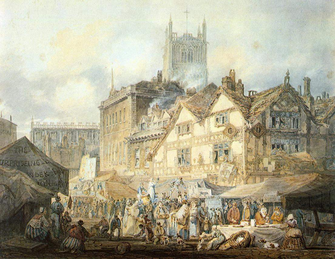 картина Город Вулверхэмптон, Стаффордшир :: Уильям Тёрнер - William Turner фото