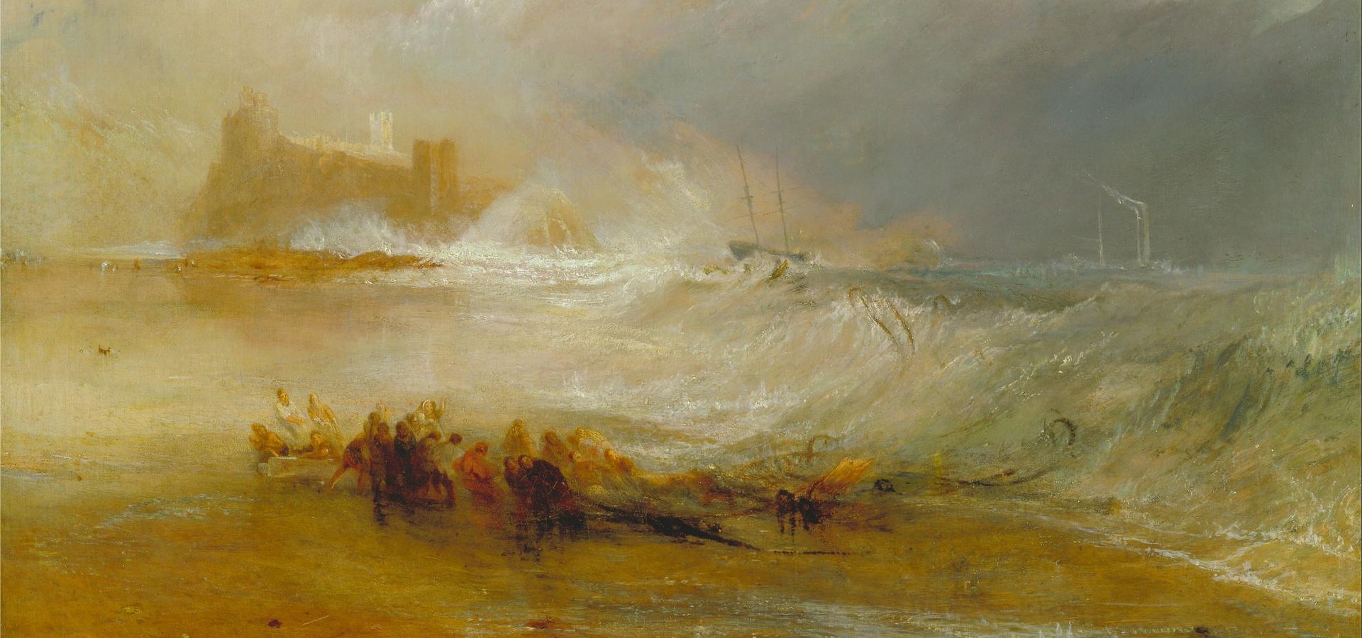пейзаж Мародёры - морское побережье Нортамберленда :: Уильям Тёрнер - William Turner фото