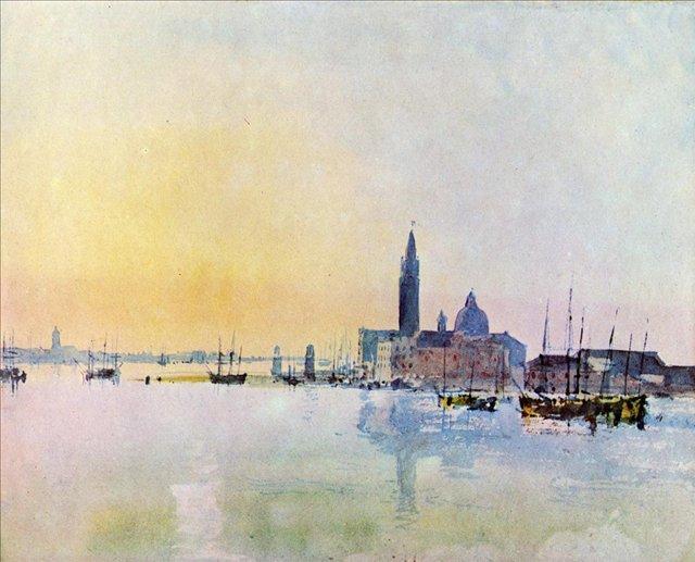 картина Венеция, Сан Гуирджио из Доганы, восход солнца :: Уильям Тёрнер - William Turner фото
