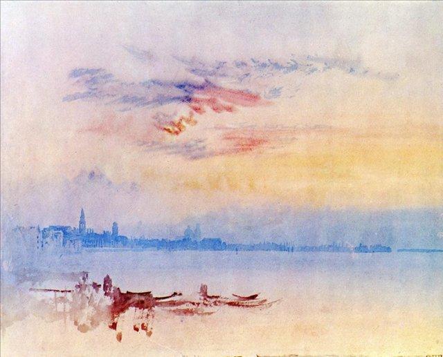 картина Венеция, вид восточнее острова Джудекка, восход солнца :: Уильям Тёрнер - William Turner фото