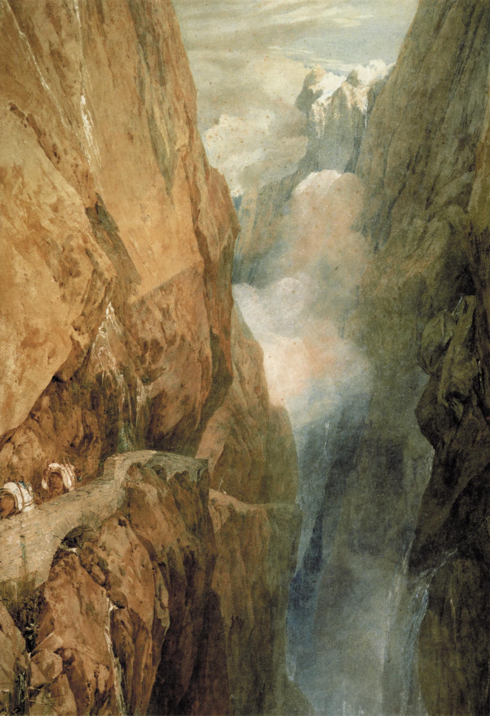 картина Дорога святого Готхарда :: Уильям Тёрнер - William Turner фото