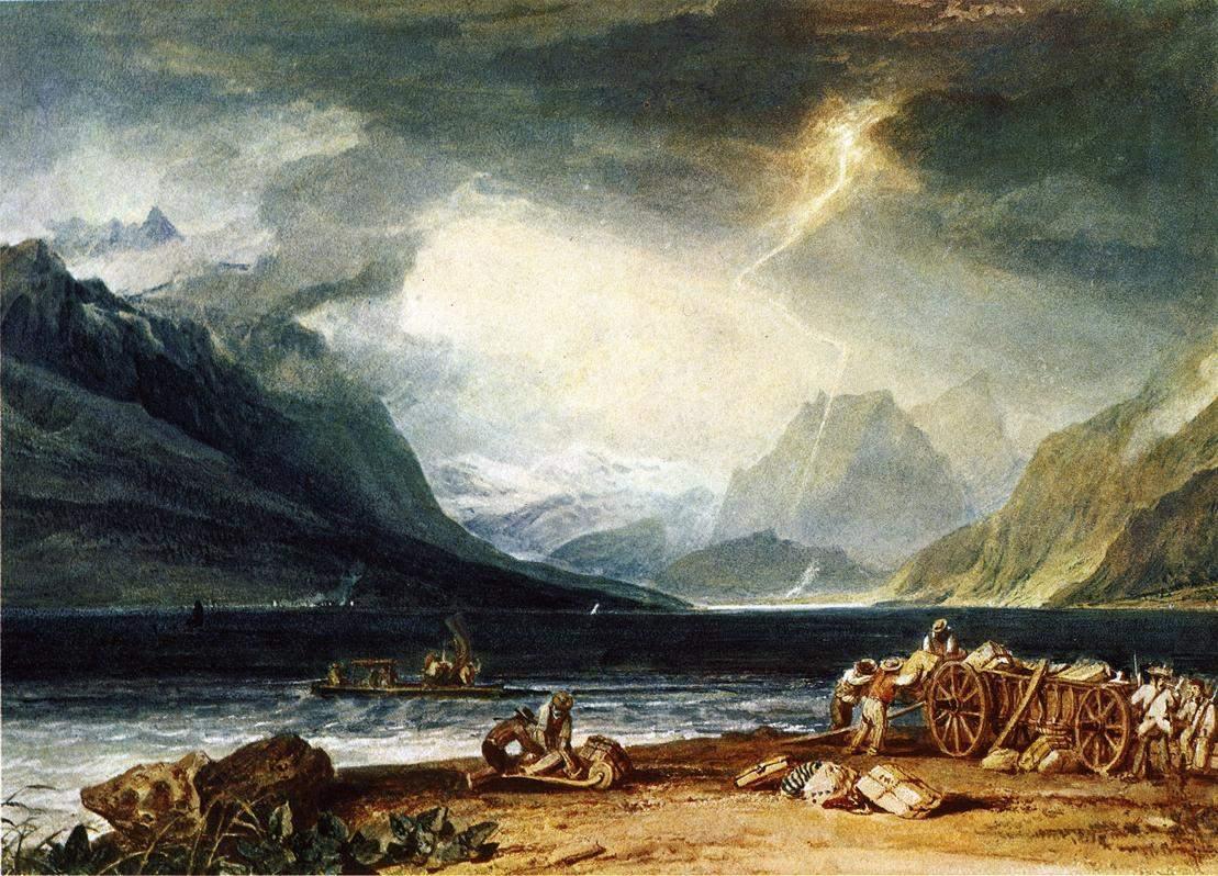 картина < Озеро Тун, Швейцария >:: Уильям Тёрнер ( William Turner ) - Тёрнер Уйльям фото