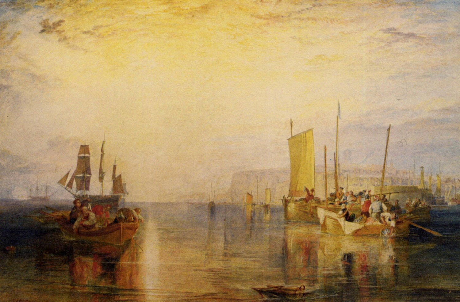 картина < Восход солнца. Ловля рыбы в Маргэте >:: Уильям Тёрнер ( William Turner ) - William Turner фото