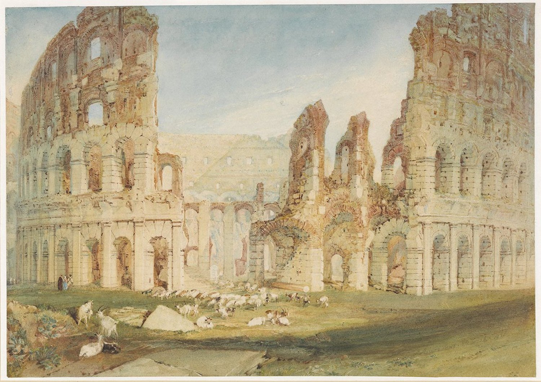 картина < Рим - Колизей >:: Уильям Тёрнер ( William Turner ) - Тёрнер Уйльям фото
