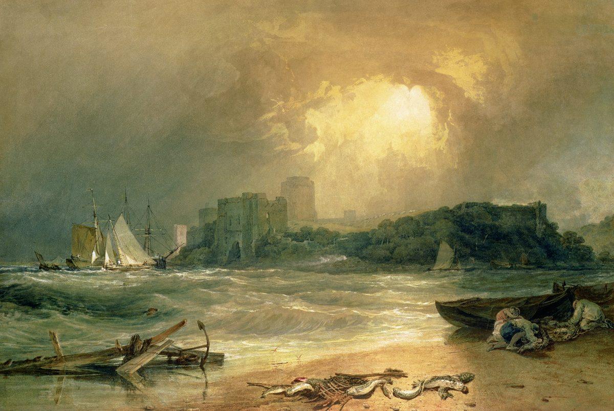 картина Замок Пемброк, Южный Уэльс - шум приближающегося шторма :: Уильям Тёрнер - William Turner фото