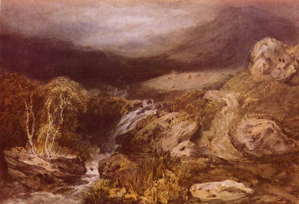 картина < Горный поток, Конистон >:: Уильям Тёрнер ( William Turner ) - Тёрнер Уйльям фото
