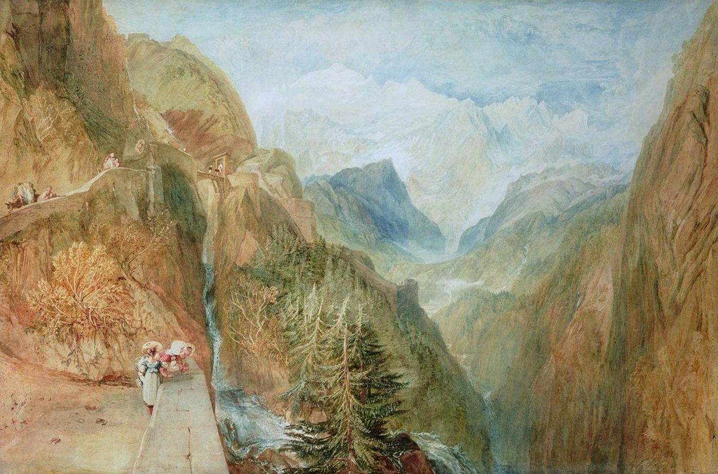 горный пейзаж Белая гора :: Уильям Тёрнер - William Turner фото