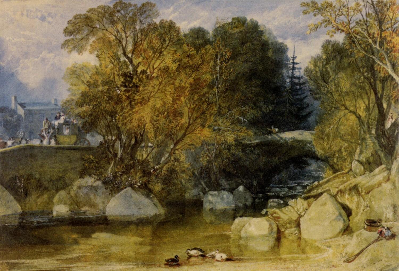 картина Мост Иви, Девоншир :: Уильям Тёрнер - William Turner фото