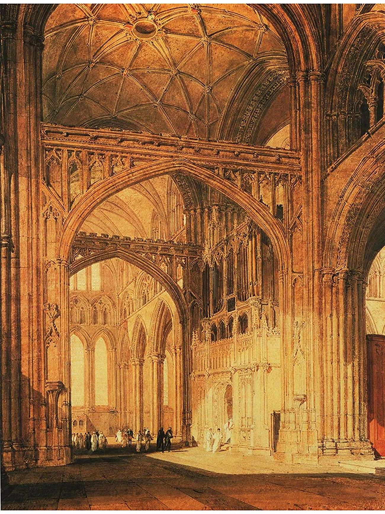 картина < интерьер Сальсбурского кафедерального собора >:: Уильям Тёрнер ( William Turner ) - Тёрнер Уйльям фото