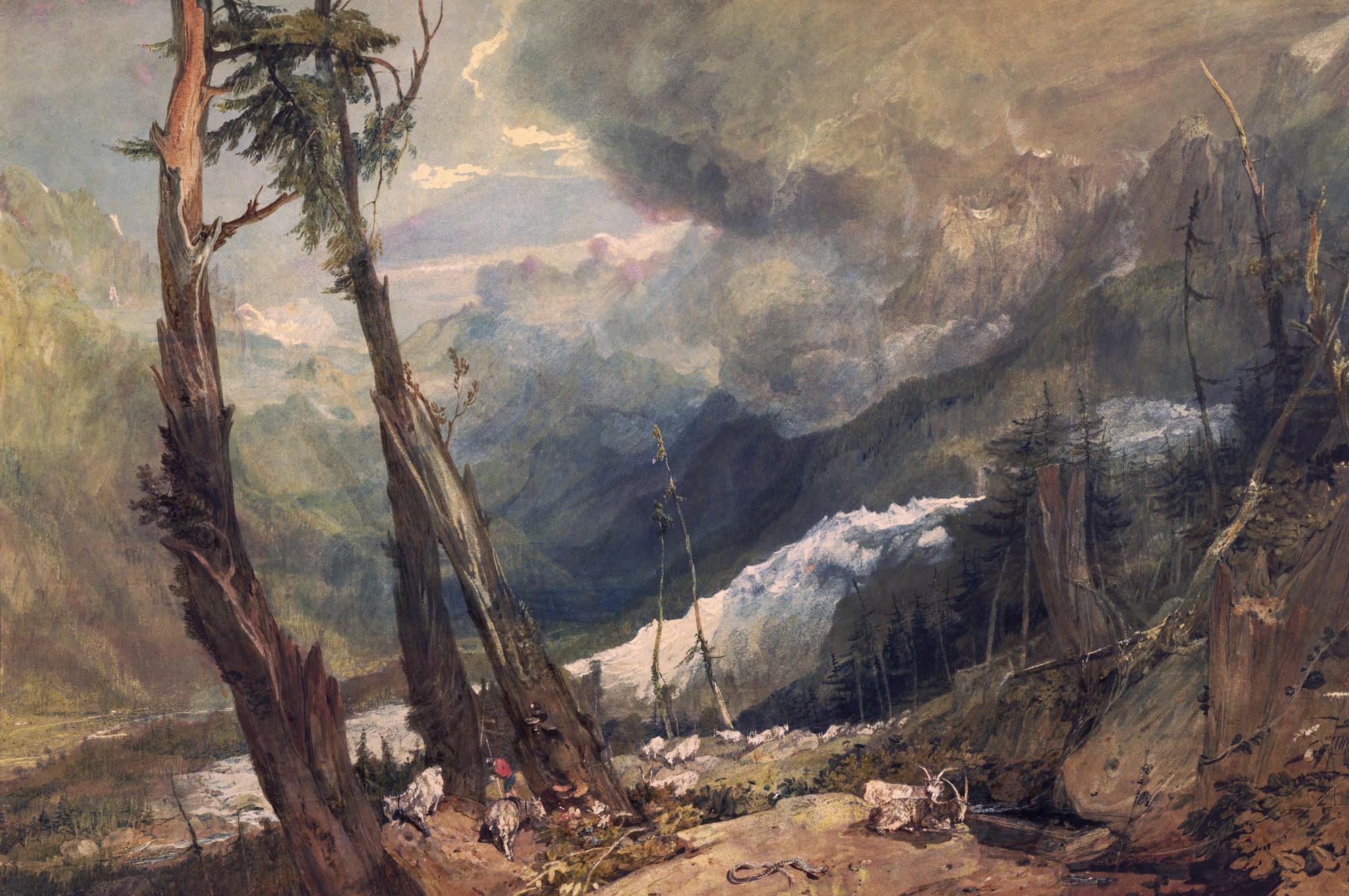 пейзаж Ледник и источник в Авероне :: Уильям Тёрнер - William Turner фото