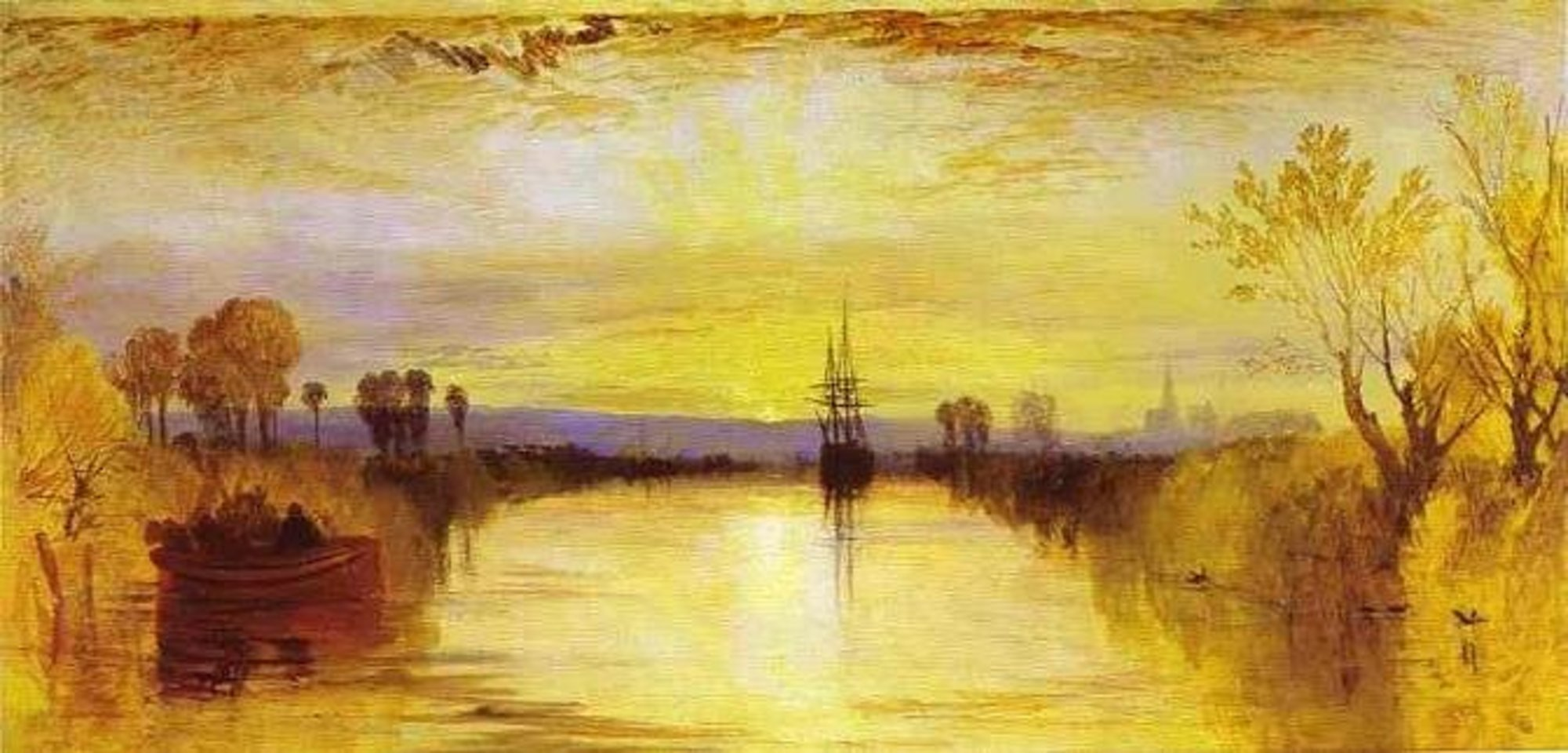 картина < канал в Чичестере >:: Уильям Тёрнер ( William Turner ) - Тёрнер Уйльям фото