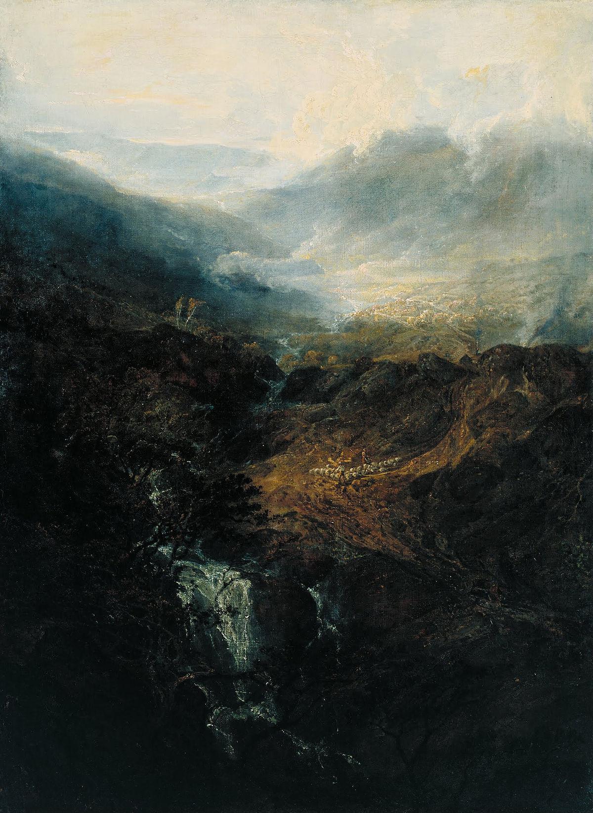 картина < Утро в Корнстонских скалах в Камберленде >:: Уильям Тёрнер ( William Turner ) - Тёрнер Уйльям фото