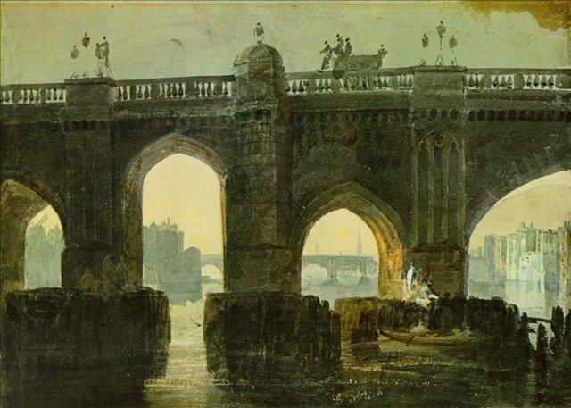 картина Старый лондонский мост :: Уильям Тёрнер - William Turner фото