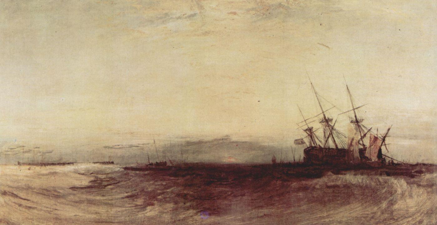 картина < Севшее на мель судно >:: Уильям Тёрнер ( William Turner ) - Тёрнер Уйльям фото