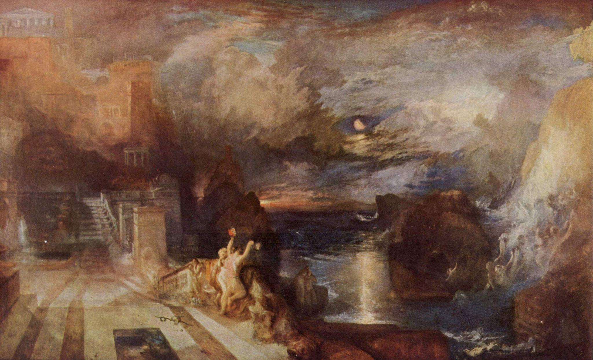 картина Прощание Геро и Леандра:: Уильям Тёрнер, описание - William Turner фото