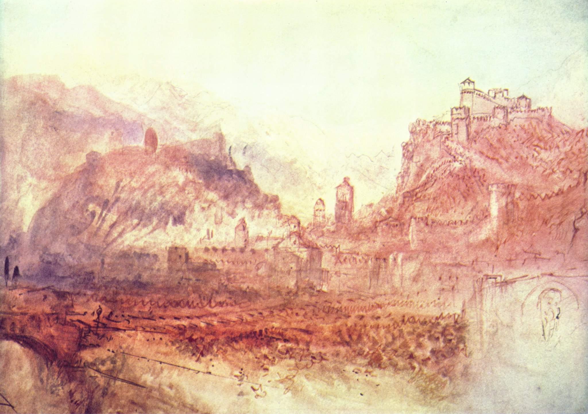 картина < Вид Беллинцоны с юга >:: Уильям Тёрнер ( William Turner ) - Тёрнер Уйльям фото