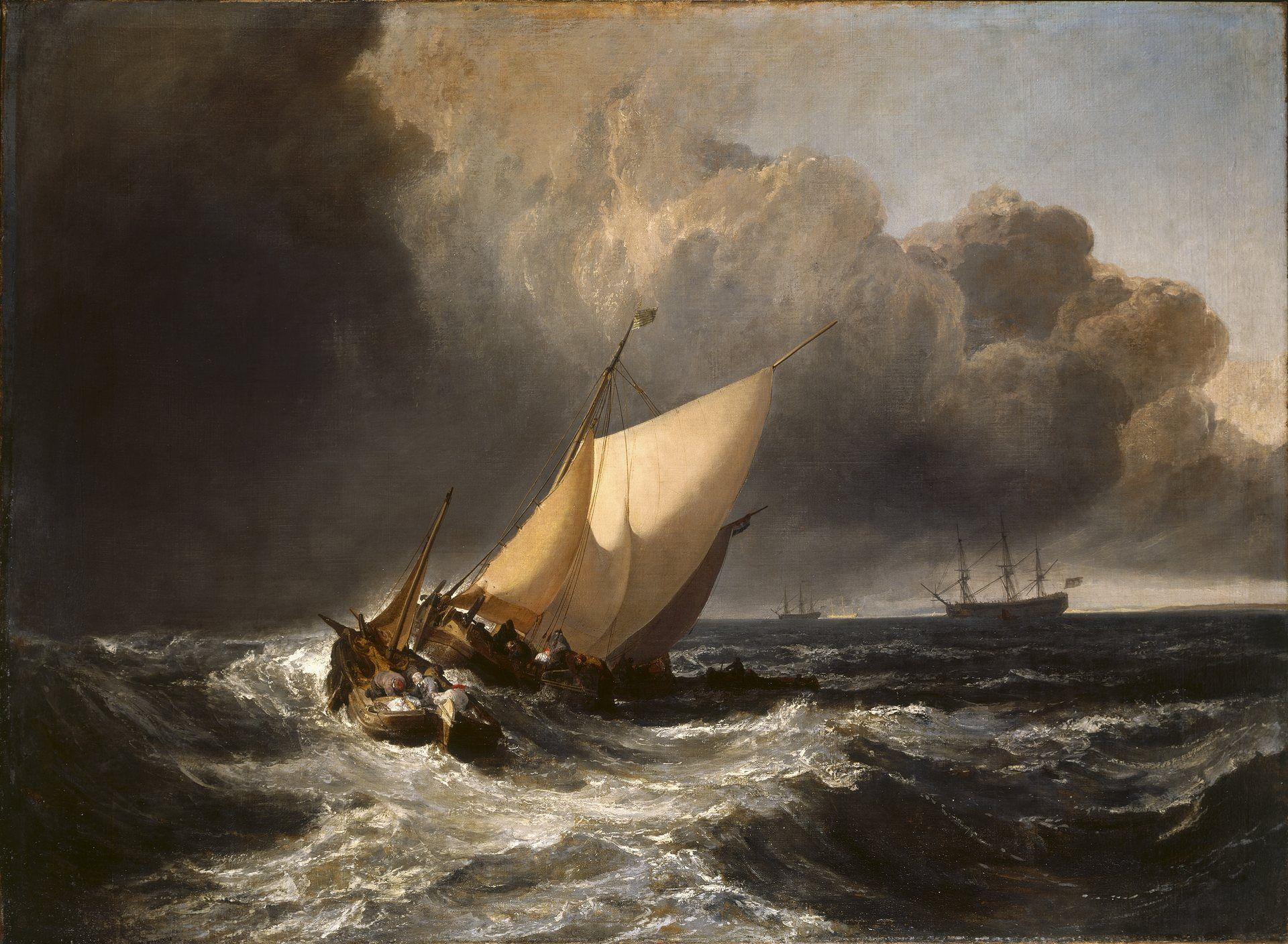 картина Голландские рыбачьи лодки, застигнутые бурей :: Уильям Тёрнер ( William Turner ) - William Turner фото