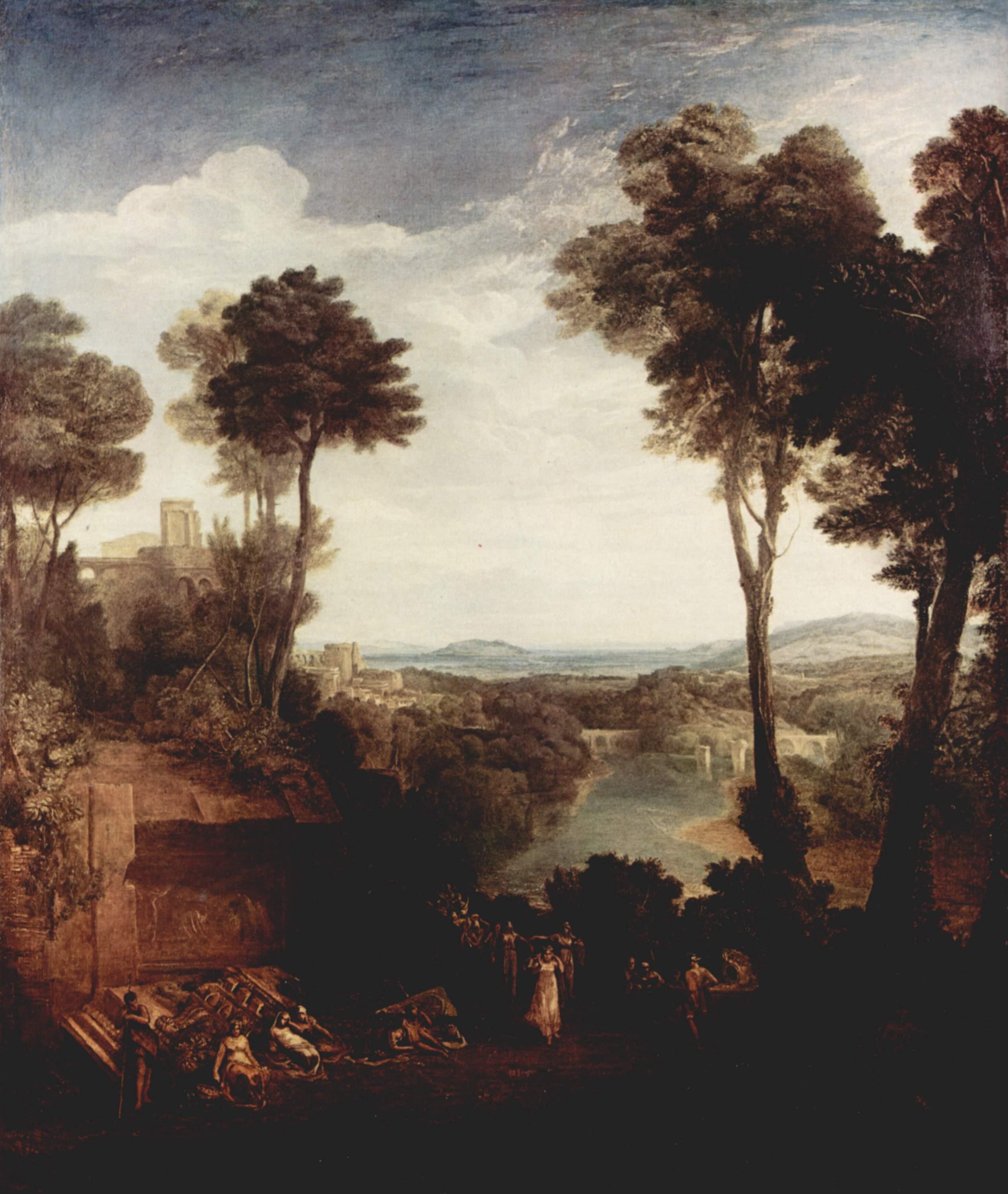 картина Меркурий и Герса :: Уильям Тёрнер - William Turner фото
