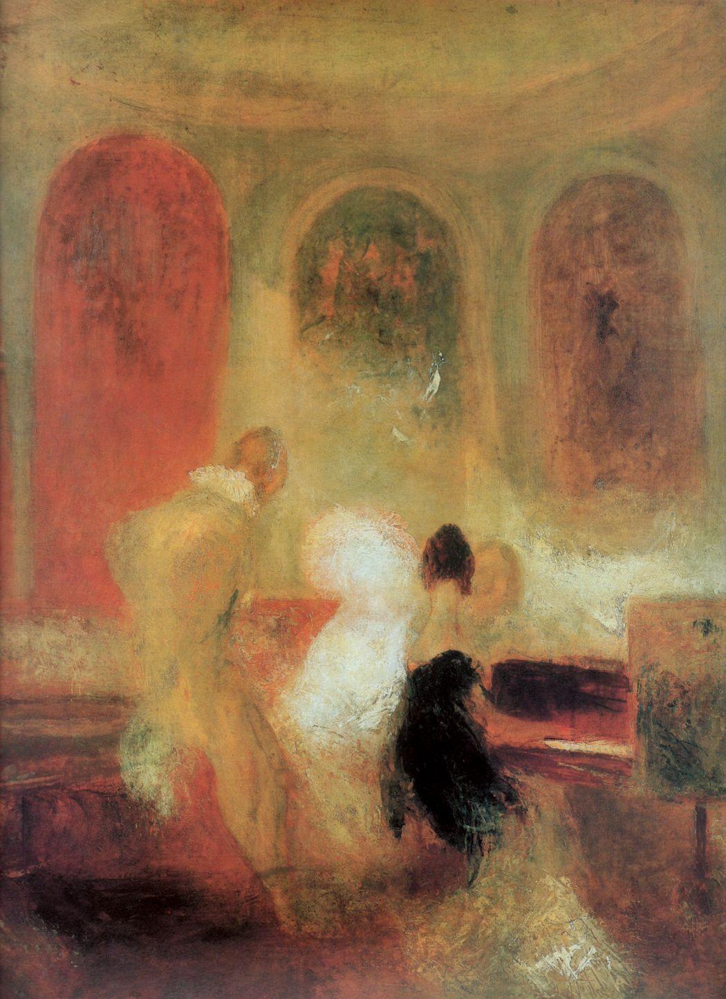 картина < Музицирующее общество в Петворте >:: Уильям Тёрнер ( William Turner ) - Тёрнер Уйльям фото