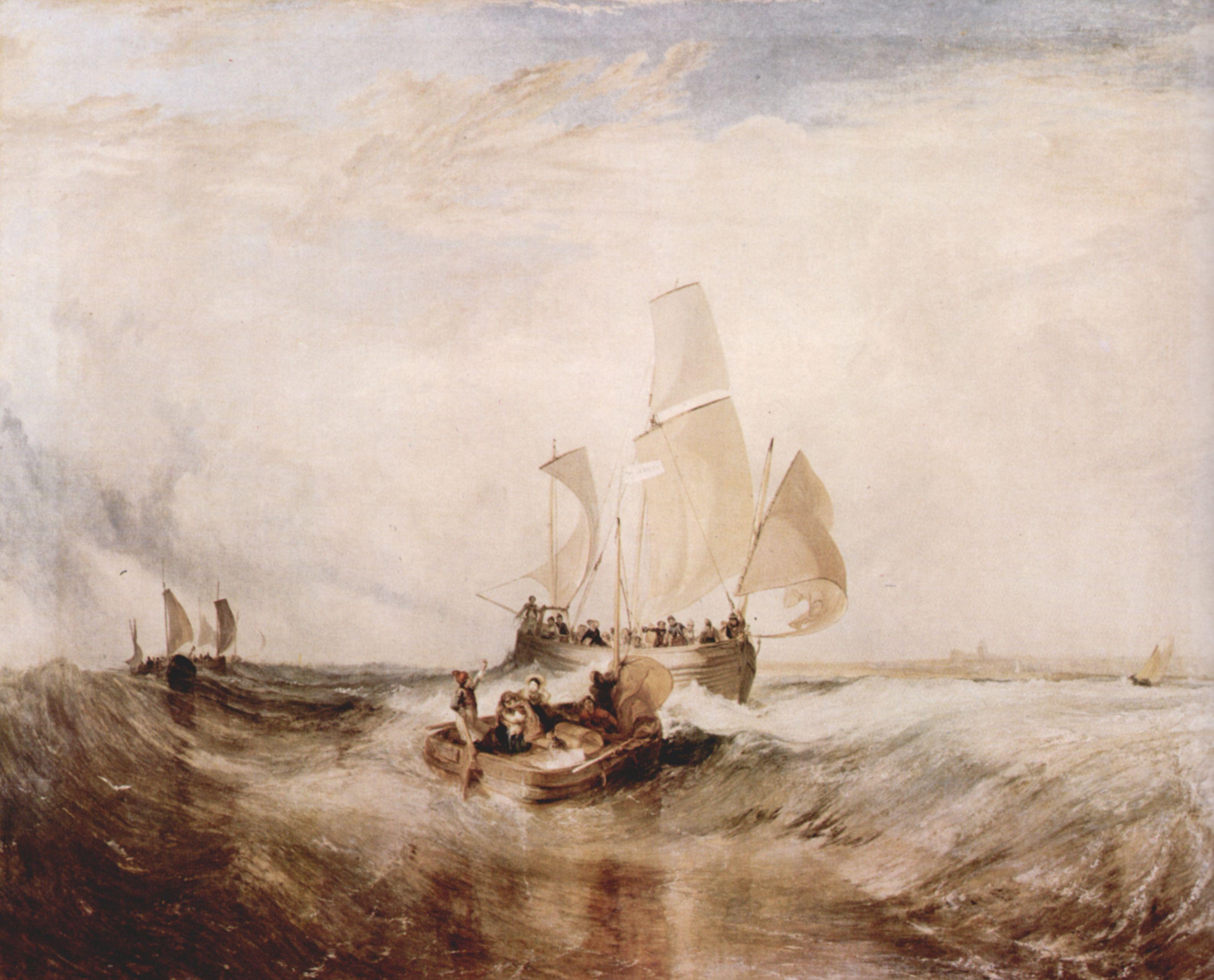 картина Пассажиры поднимаются на борт :: Уильям Тёрнер - William Turner фото