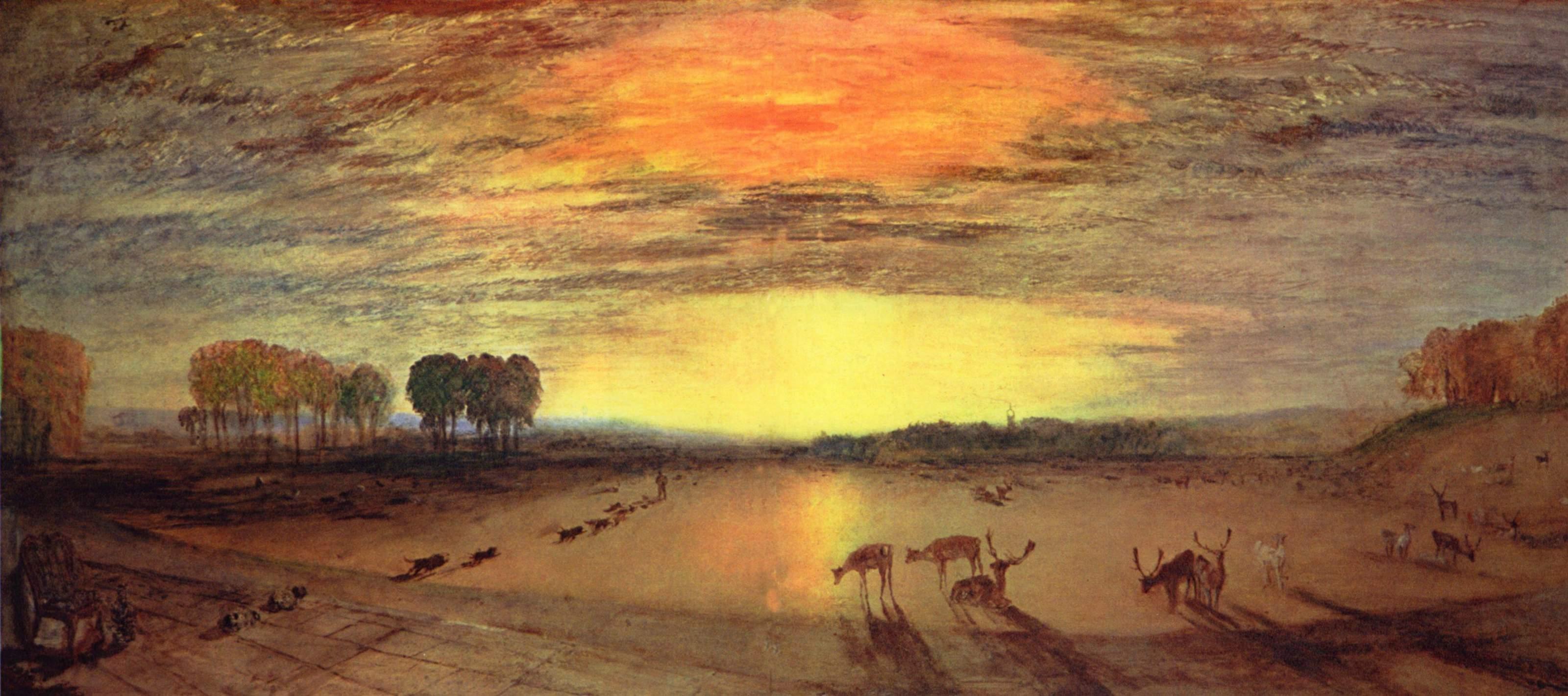 картина < Парк в Петворте, на заднем плане Тиллингтонская церковь >:: Уильям Тёрнер ( William Turner ) - Тёрнер Уйльям фото